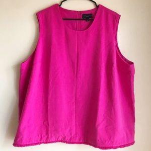 Victoria Beckham for Target Hot Pink Fray Hem Tank